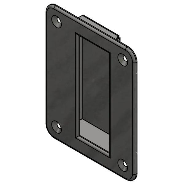 hardware flush pull