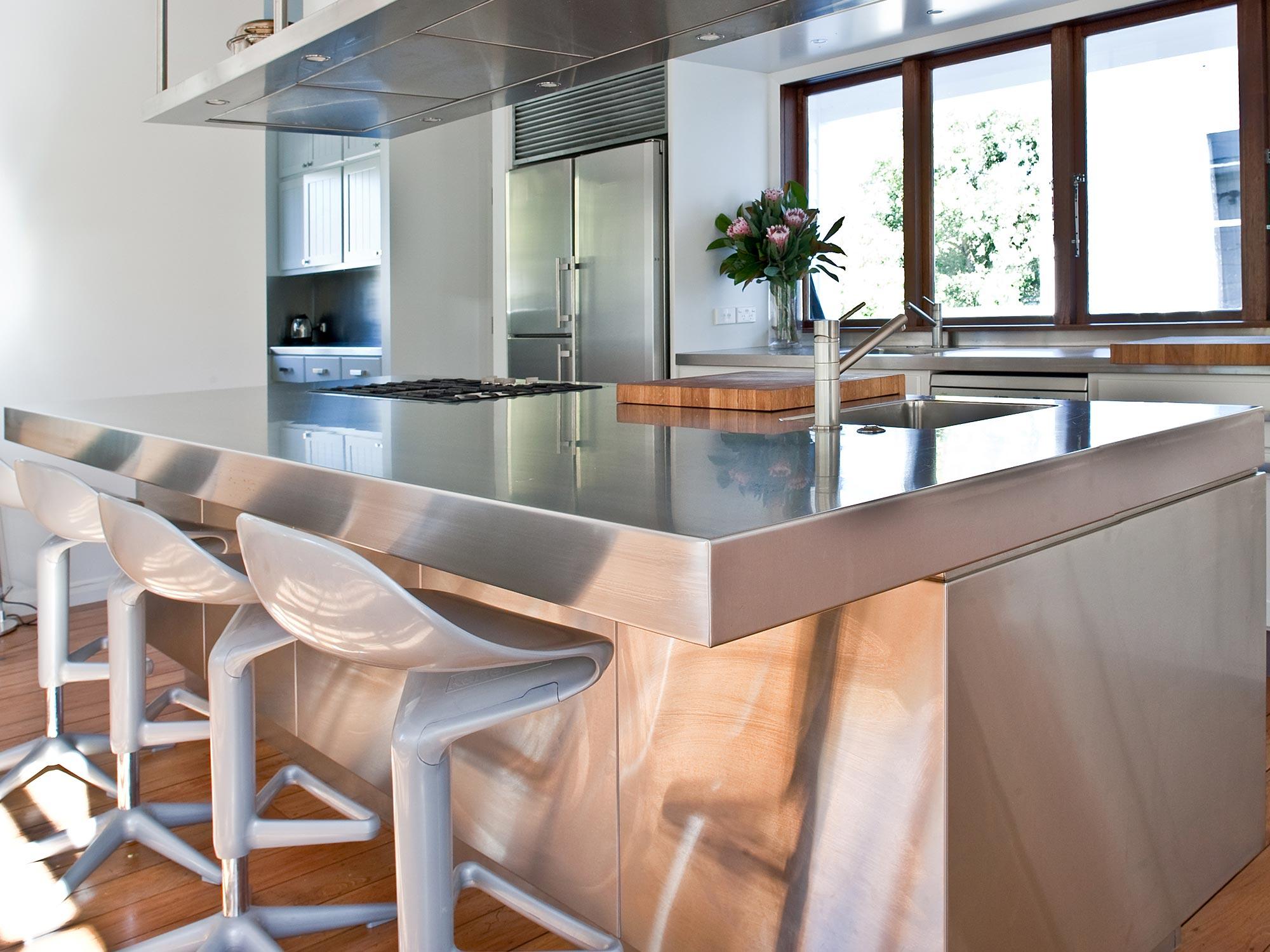 Stainless steel kitchen tops