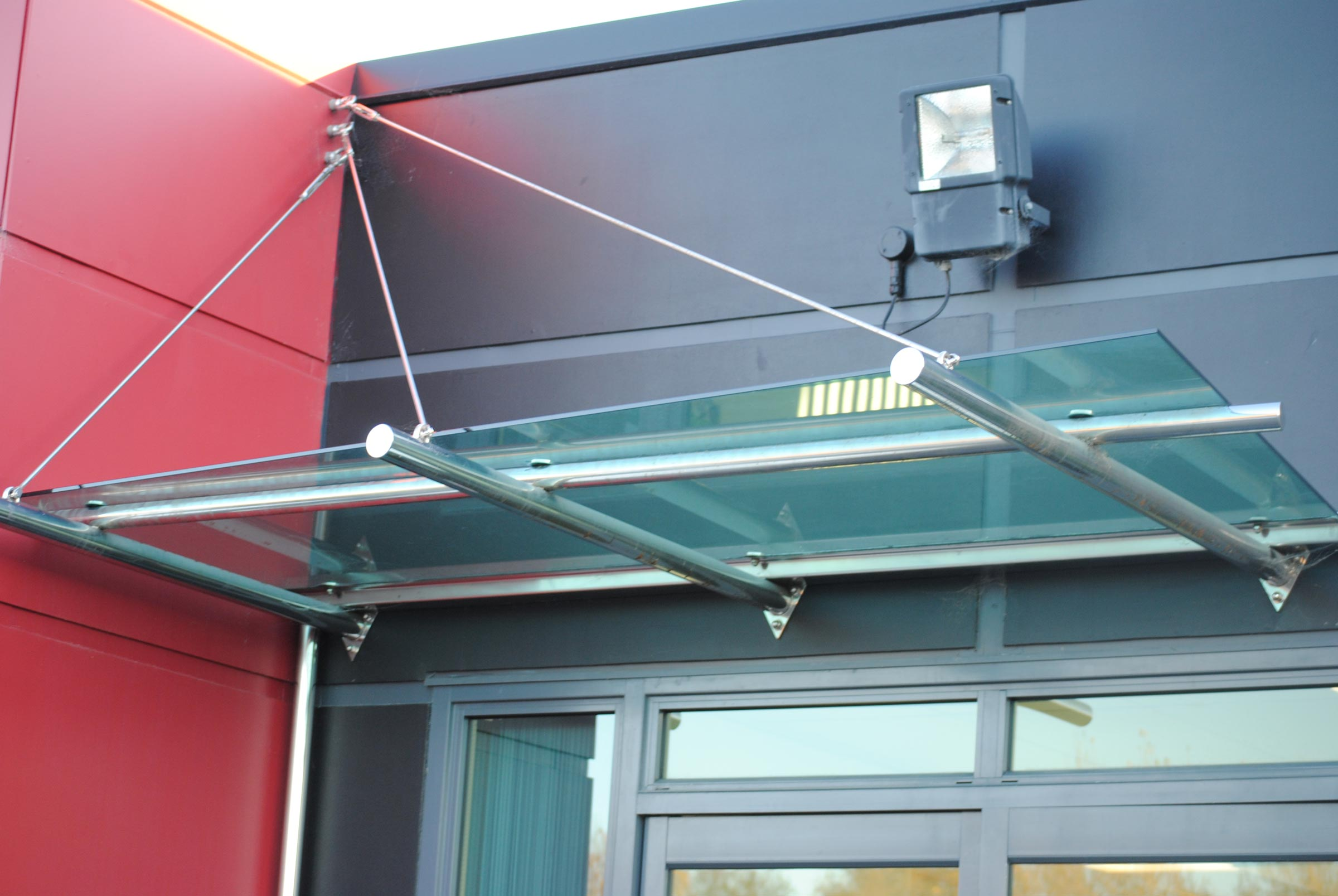 glass stainless awning