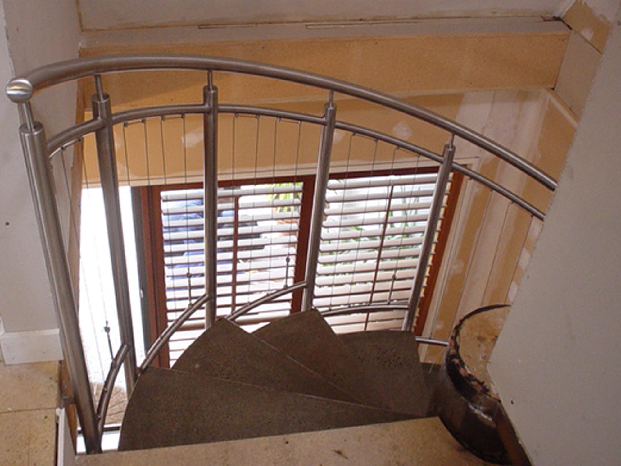 handrail spiral staircase from top