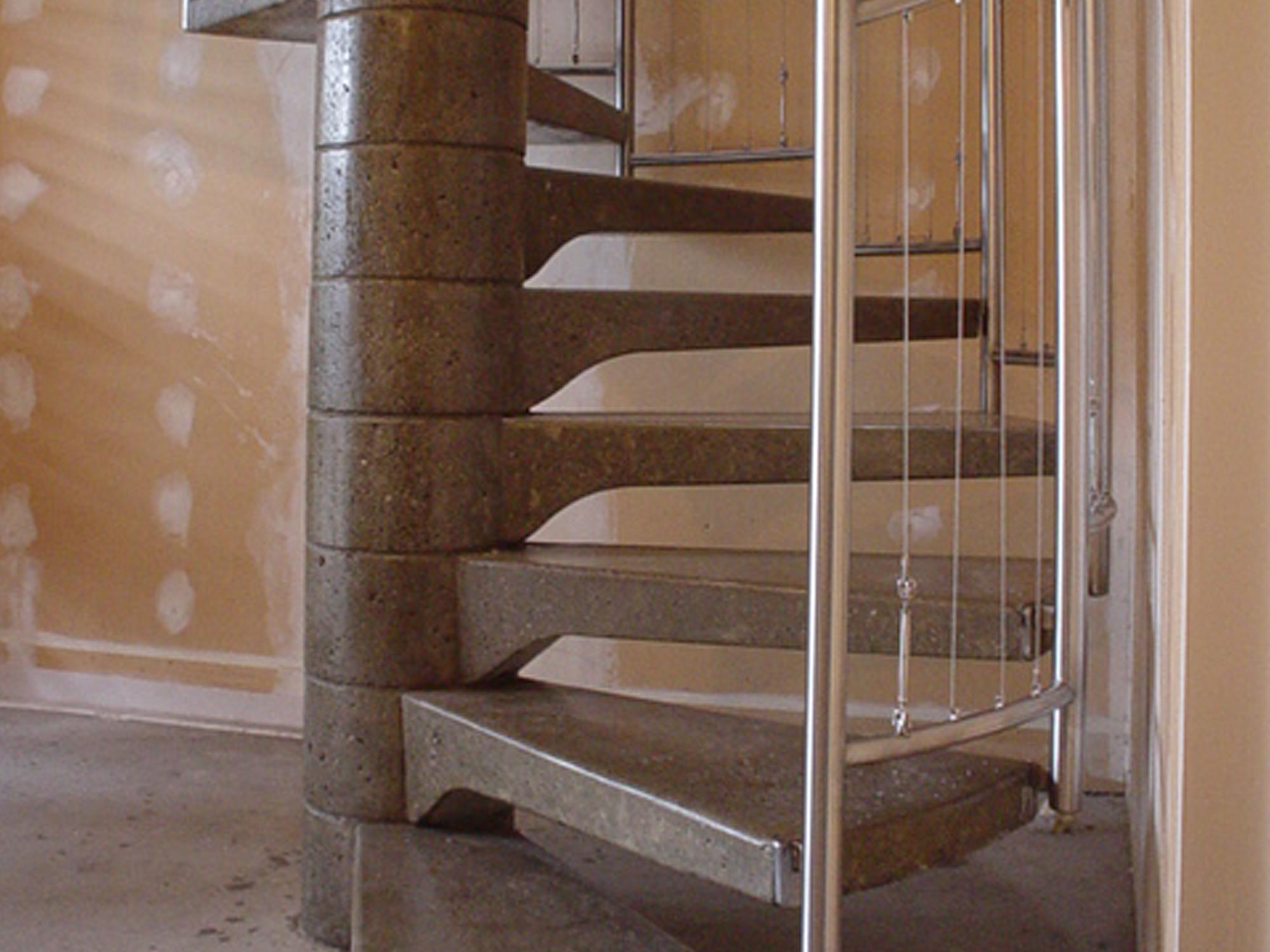 spiral staircase bottom