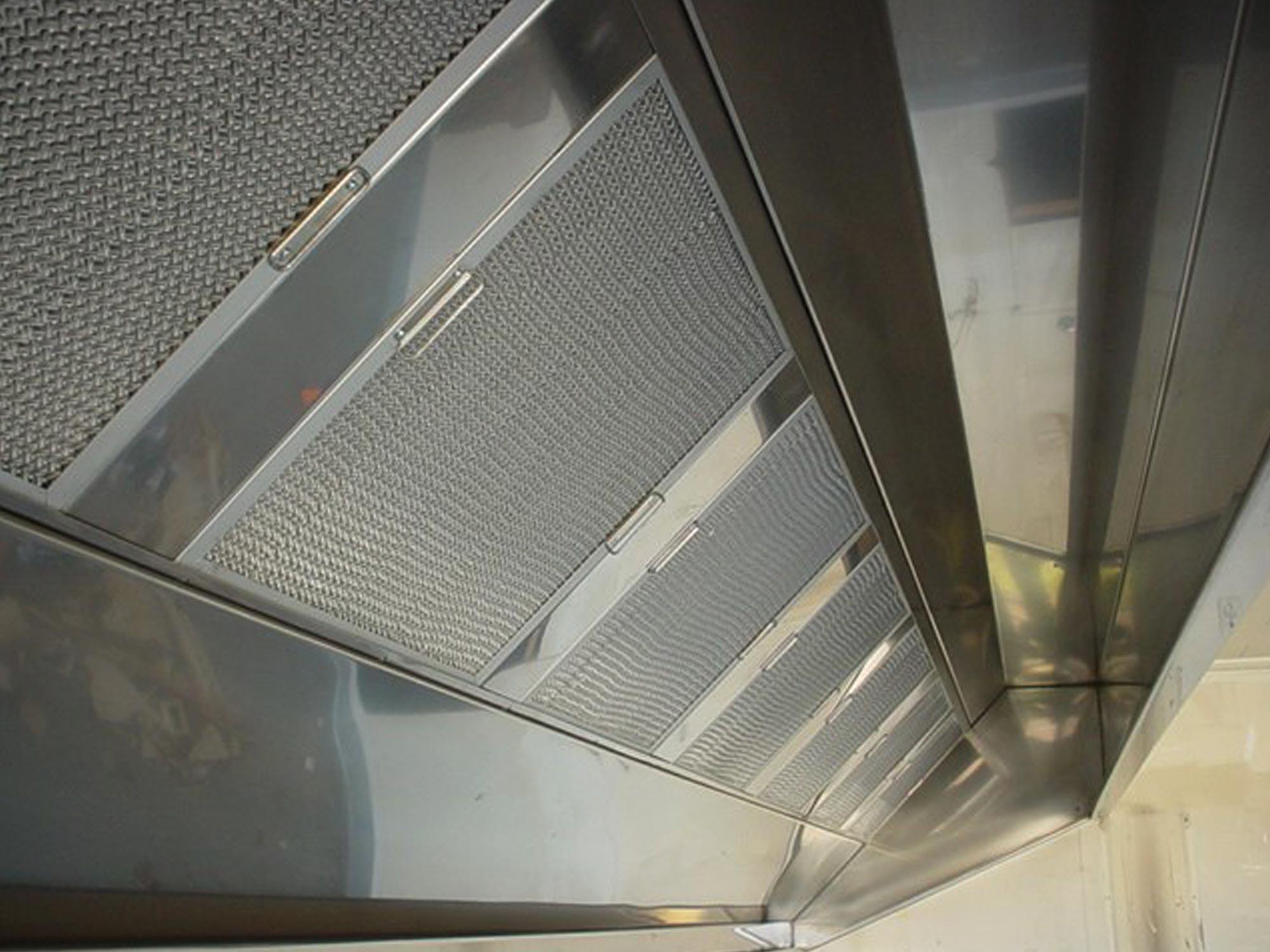 range hood commercial overhead stainless steel