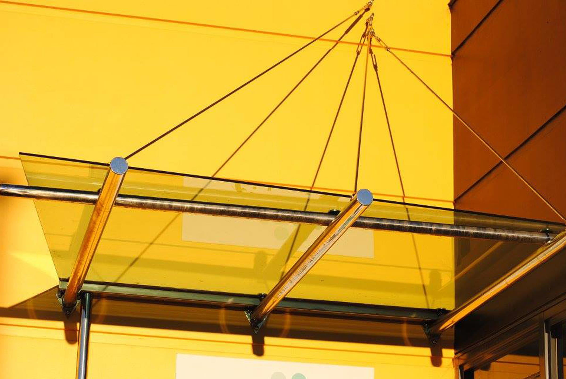 yellow stainless awning